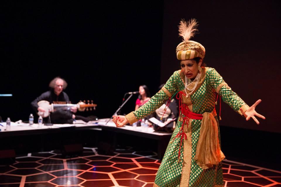 "Character - Emperor Akbar, as portrayed by Farah Yasmeen Shaikh. Photo by ""The Twentieth Wife"" production."